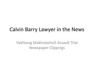 Calvin Barry | Calvin Barry Professional Corporation