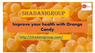 What are the Health Benefits of Orange Candy?