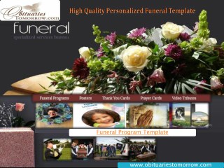 High Quality Personalized Funeral Template