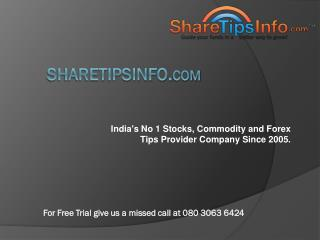 Intraday Trading Tips of Stock market and Commodities :Sharetipsinfo