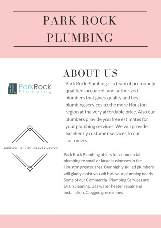 Drain cleaning service Houston | Park Rock Plumbing