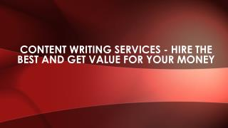 Professional content writing services make sure that the content provided to you is fresh, original and unique.