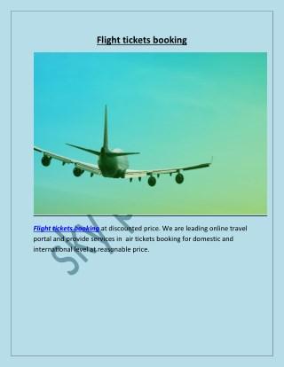 Flight tickets booking