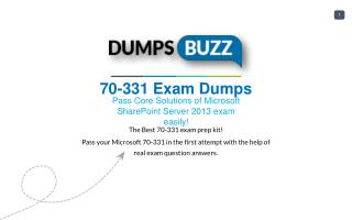 Valid 70-331 Exam VCE PDF New Questions