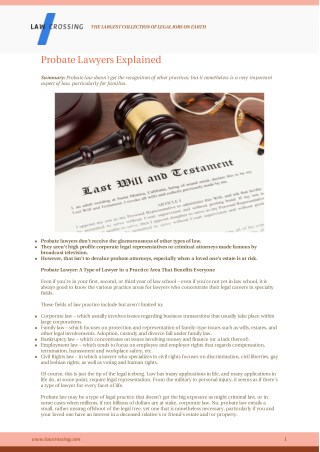 Probate Lawyers Explained