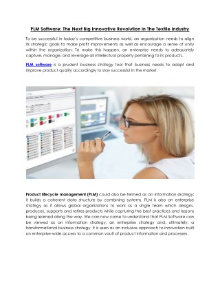 Buy Product Lifecycle Management (PLM) Software Online at IIGM
