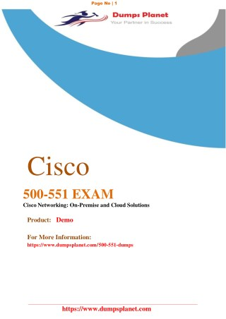 Cisco 500-551 Exam Questions Guide