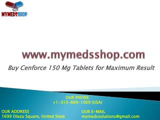 Buy Cenforce 150 Mg Tablets for Maximum Result
