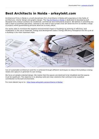 Best Architects in Noida - arkeytekt.com