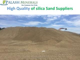 High Quality of silica Sand Suppliers