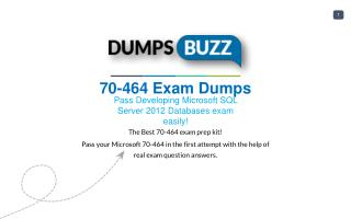 Mind Blowing REAL Microsoft 70-464 VCE test questions