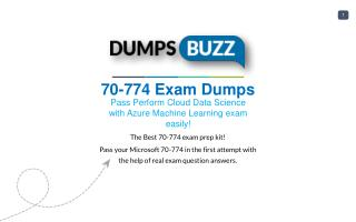 Some Details Regarding 70-774 Test Dumps VCE That Will Make You Feel Better