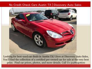 No credit check cars Austin TX