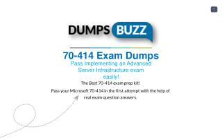Valid 70-414 Test Dumps