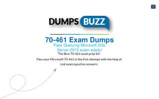 New 70-461 VCE exam questions with Free Updates