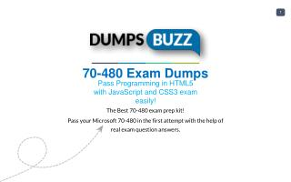 Purchase REAL 70-480 Test VCE Exam Dumps