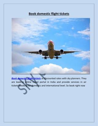 Book domestic flight tickets