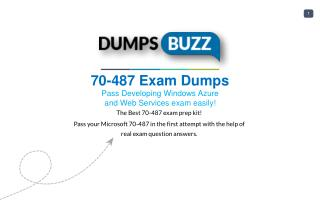Purchase REAL 70-487 Test VCE Exam Dumps