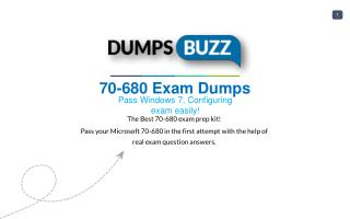 The best way to Pass 70-680 Exam with VCE new questions