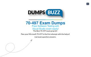 70-497 VCE Dumps - Helps You to Pass Microsoft 70-497 Exam