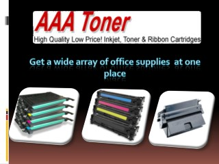 Get a wide array of office supplies at one place