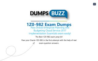 1Z0-982 test new questions - Get Verified 1Z0-982 Answers