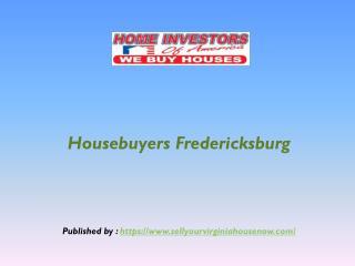 Housebuyers Fredericksburg