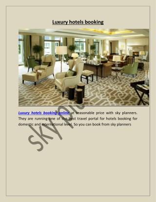 Luxury hotels booking online