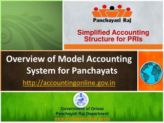 Overview of Model Accounting System for Panchayats http://accountingonline.gov.in
