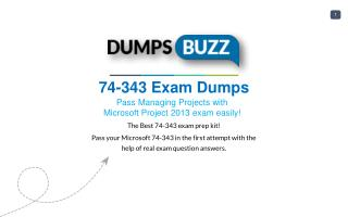 74-343 PDF Test Dumps - Free Microsoft 74-343 Sample practice exam questions