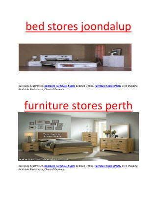 bed stores joondalup