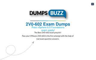 Prompt Purchase 2V0-602 PDF VCE Exam Dumps