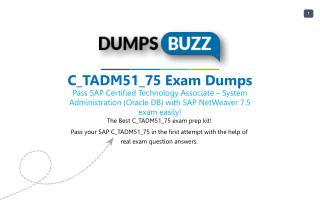 Authentic SAP C_TADM51_75 PDF new questions