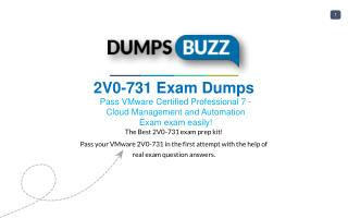 Buy 2V0-731 VCE Question PDF Test Dumps For Immediate Success