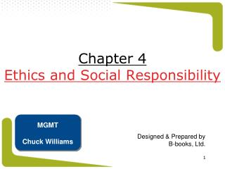 Chapter 4 Ethics and Social Responsibility