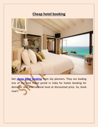 cheap hotel booking