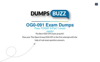 Valid OG0-091 Braindumps - Pass The Open Group OG0-091 Test in 1st attempt