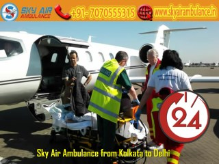 Get Air Ambulance Service at Any-time from Kolkata to Delhi by Sky Air Ambulance
