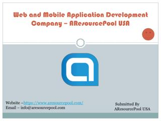 Web and Mobile Application Development Company – AResourcePool