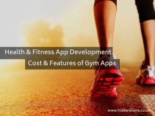 Health and Fitness App Development Services