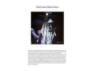 Popular Songs of Nigerian Singers