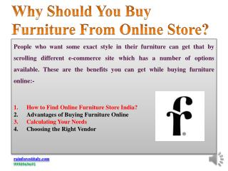 Why should you buy furniture from online store?