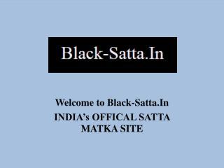 Black Satta Matka King