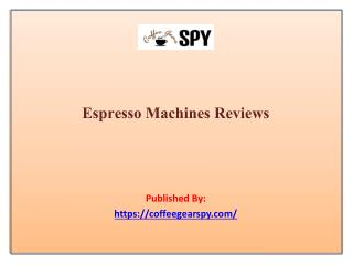 Espresso Machines Reviews