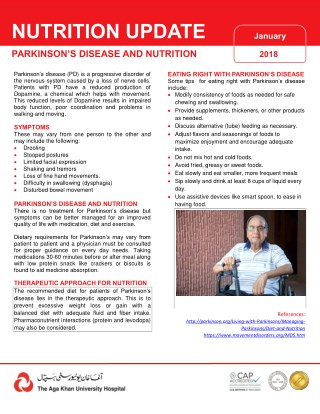 Parkinson's Disease and Nutrition