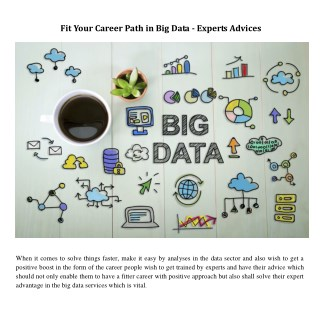Fit Your Career Path in Big Data - Experts Advices