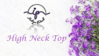 High Neck Top | Indigo push