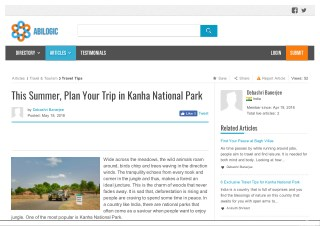 This Summer, Plan Your Trip in Kanha National Park