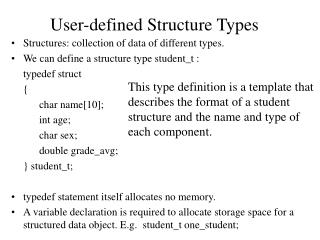 User-defined Structure Types