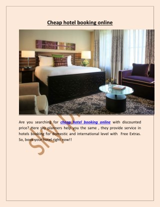 cheap hotel booking online